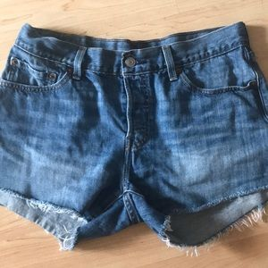 Levi's 501 Size 28 cutoff denim shorts